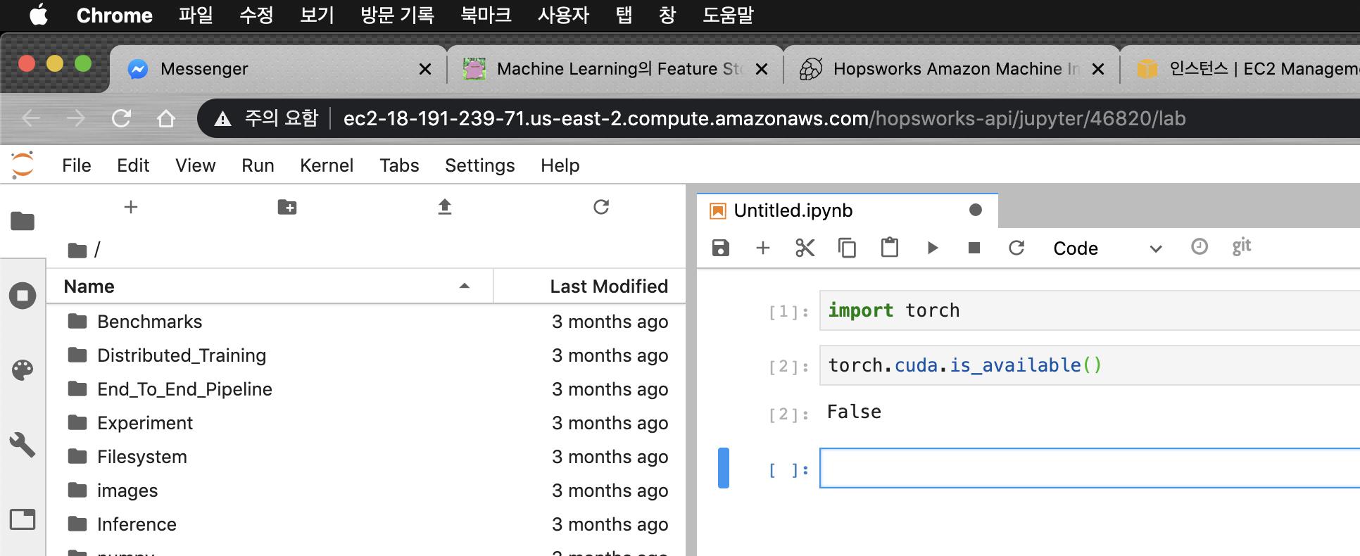 PyTorch가 설치되어있는 JupyterLab
