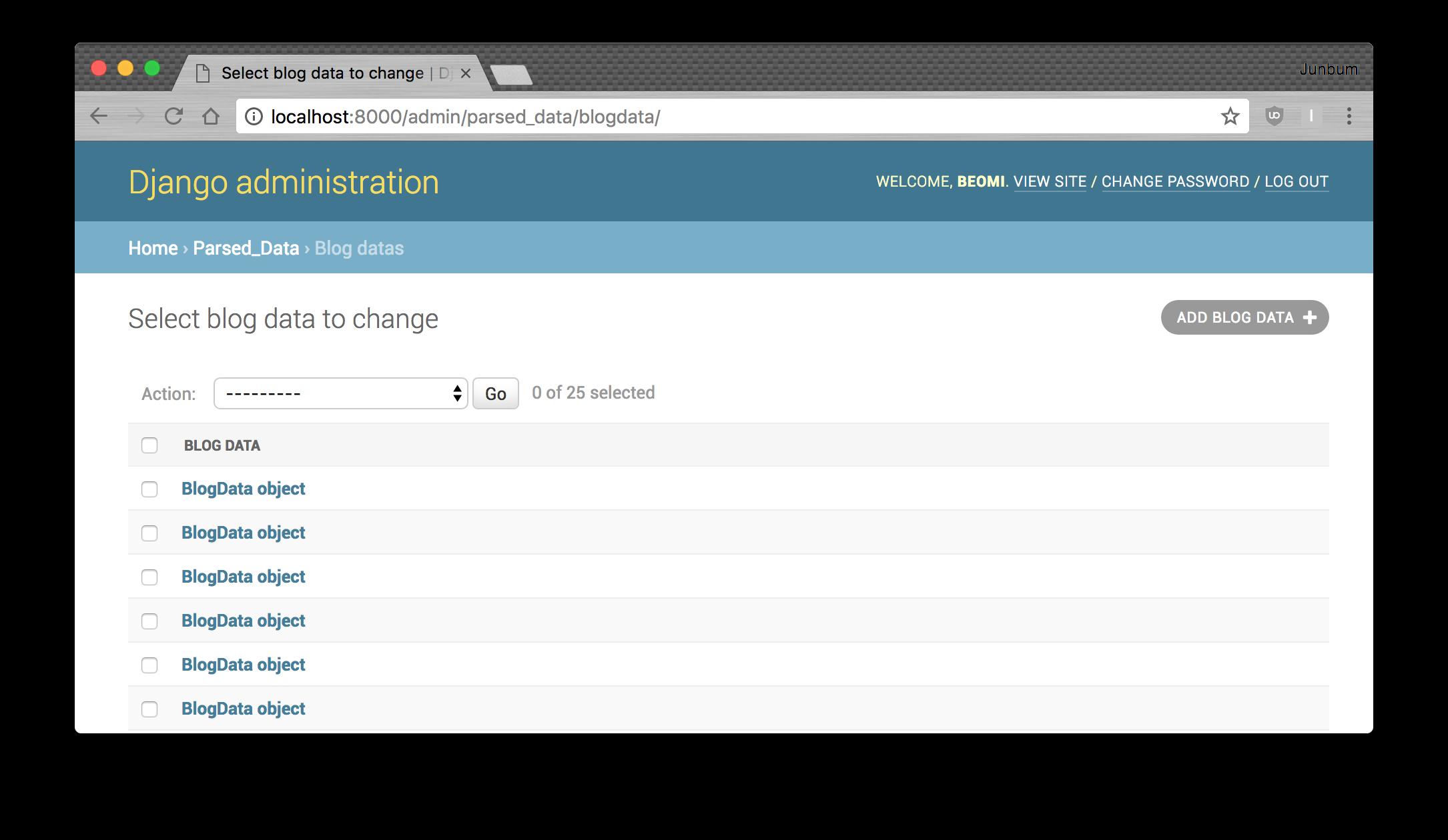 blogdata admin list