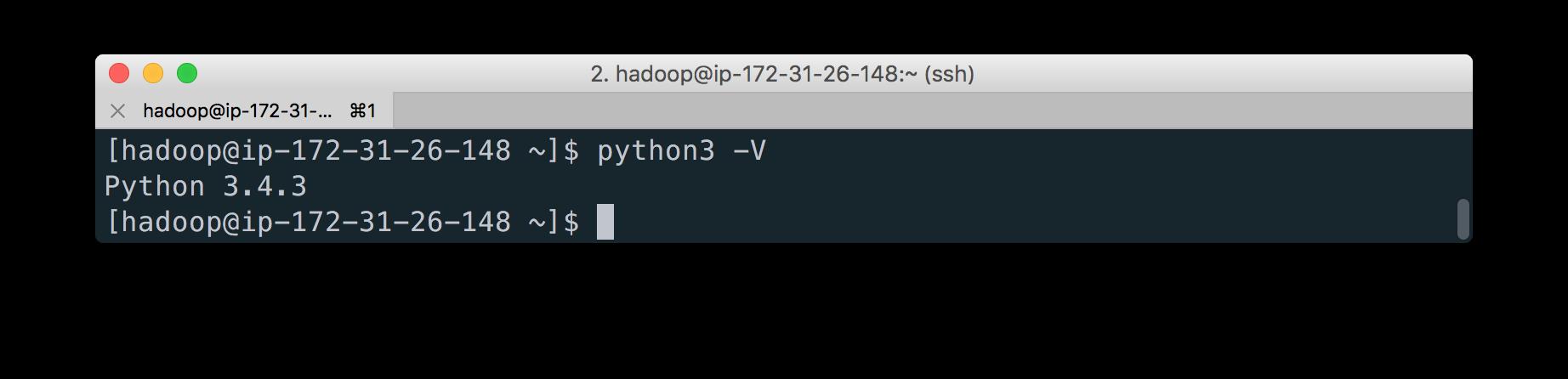 EMR python은 3.4버전