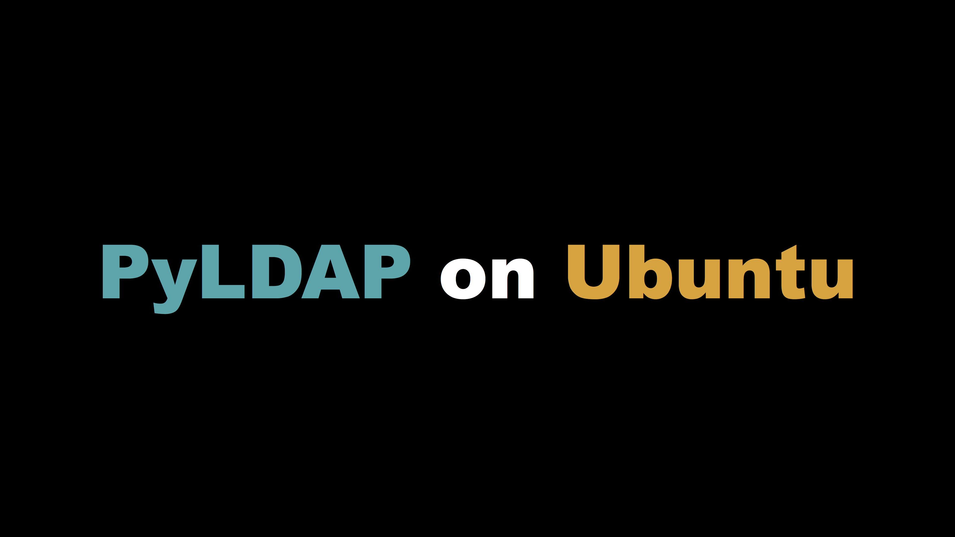 ubuntu16에 pyldap 설치하기